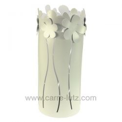 Porte parapluie en métal peint époxy blanc fleur blanche Mascagni , reference CL83000059