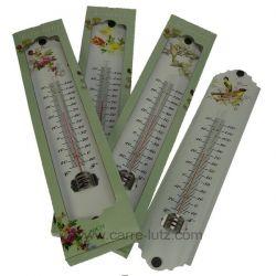 Thermomètre métal émaillé 29,5 cm décoré , reference CL50110044