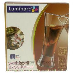 4 verres à pastis 16 cl Martigues luminarc , reference CL20014002