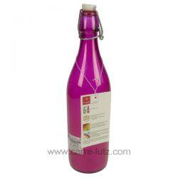 Bouteille en verre 1 litre couleur fushia Bormioli Rocco , reference CL50152118