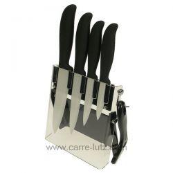 Bloc 4 couteaux + éplucheur lame céramique , reference CL14000067