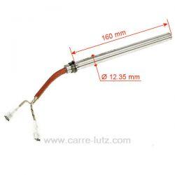 41450905000 - Résistance 350W Diamètre 12 mm Longueur 165 mm de poêle à pellet MCZ  895700660 895713100 Palazzetti