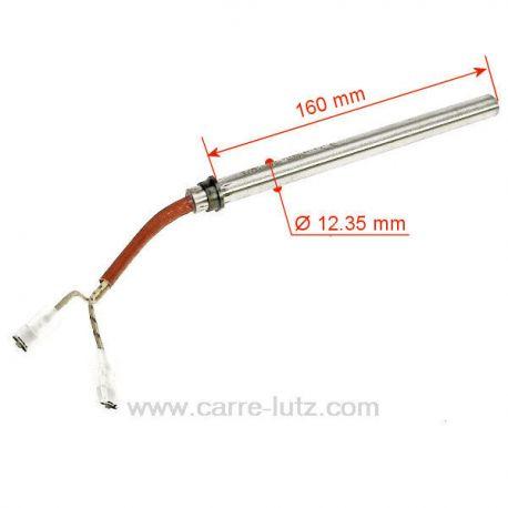 Résistance 350W Diamètre 12 mm Longueur 165 mm de poêle à pellet EdilkaminRoyal Thermorossi MCZ 41450905000 Antares Antares-0...