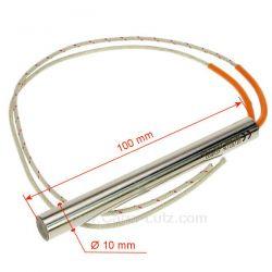 Résistance 250W 10 mm longueur 100 mm de poêle à pellet Diamètre 10 mm Longueur 100 mm , reference 703922