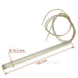 Résistance 300W 10,2 mm longueur 155 mm de poêle à pellet HT62700 Extraflame Nordica Diamètre 10,2 mm Longueur 155 mm , refer...