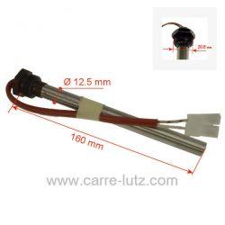 Résistance 350W 12,5 mm longueur 160 mm de poêle à pellet Palazzetti 892605960Godin Réf. 892605960 Volnay Fonte flamme Alti...