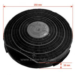Filtre charbon actif TYPE 34 DKF34 FAC349 de hotte aspirante A Martin Ariston Bauknecht Rosières Scholtes Whirlpool , refere...