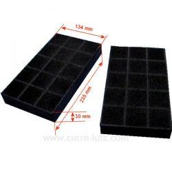 2 Filtres charbon actif 70F25 B237 dimensions 134 x 235 x 30 de hotte aspirante Ariston Brandt Sauter Thermor Whirlpool , re...