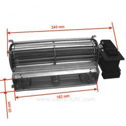 Ventilateur tangentiel 184 mm moteur à droite 1 vitesse Compatible TGA 60/1-180/15 EMMEVI - FERGAS 112700 112702 112704 11270...