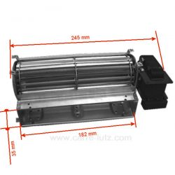 Ventilateur tangentiel 184 mm moteur à droite 1 vitesse de fourLaden Ignis Radiola Bauknecht Whirlpool ref. 482000076764 482...