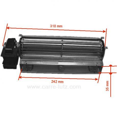 Ventilateur tangentiel 244 mm moteur à gauche 1 vitesse , reference 231032