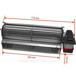 Ventilateur tangentiel 244 mm moteur à droite 1 vitesse , reference 231031