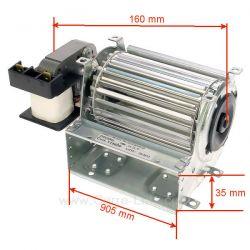 Ventilateur tangentiel 90 mm moteur à gauche 1 vitesse , reference 231049