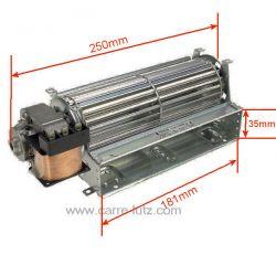 Ventilateur tangentiel 184 mm moteur à gauche 2 vitesses de fourAriston Indesit Hotpoint Creda Scholtes Candy Hoover Rosiere...