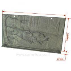 Plaque arrière P0019536 pour insert Deville 7842 7842 7844 CO7842 CO7844 , reference DV0019536