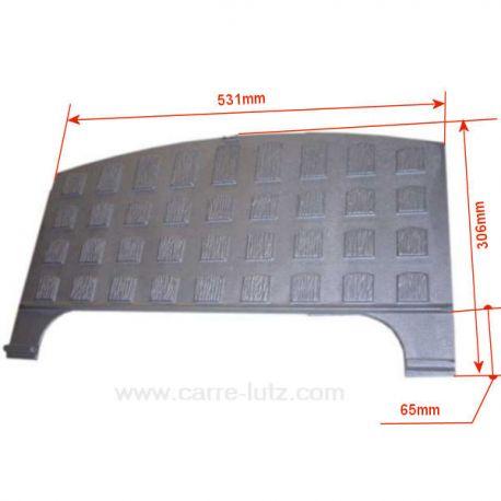 Plaque arrière P0021588 ou P0018621 pour foyer insert Deville 7836 7861 7863 7865 7866 7867 7868 7887 7888 CO7836 CO7861 CO78...