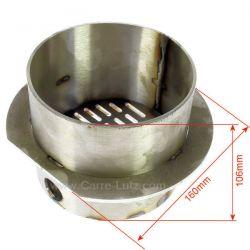 Creuset P0026742 pour poele a granulé Deville C07749, reference DV0026742
