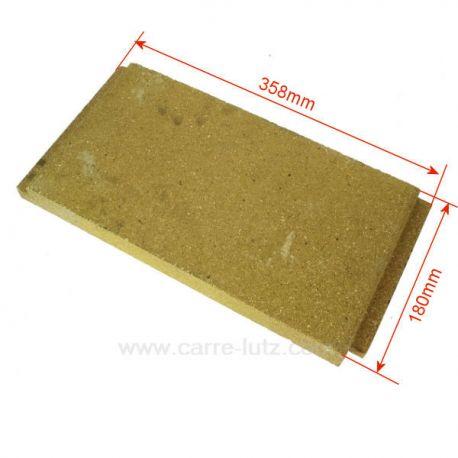 Brique gauche haute P0047166 de foyer pour cuisinière bois charbon Deville 8631 8633 87634 8641 8643 , reference DV0047166