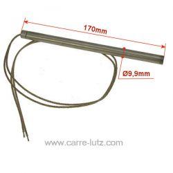 Résistance 300W 9,9 mm longueur 170 mm HT64646 de poêle à pellet Montegrappa Diamètre 9,9 mm Longueur 170 mm , reference 703965
