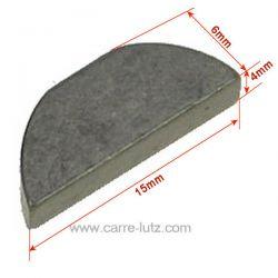 Clavette demi lune 4mm pour montage moyeu de lame , reference 9986727