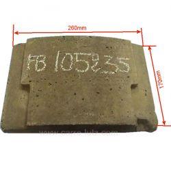 Brique avant 1240301 de convecteur Franco Belge 105235, reference FB105235