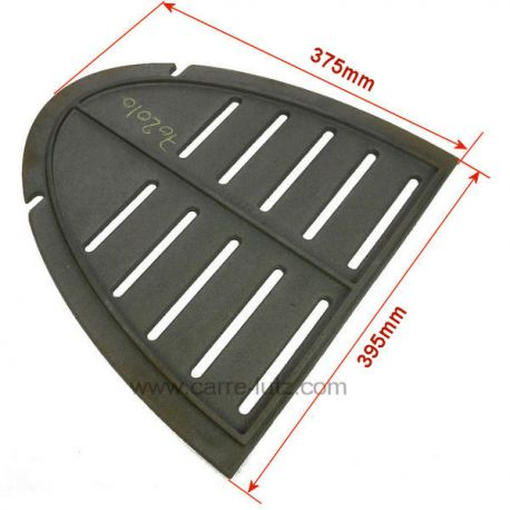 Demie grille de foyer F610437B de poêle Invicta Mandor , reference 702010