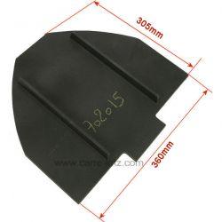 Déflecteur de foyer F610463B de poêle Invicta Chamane , reference 702015