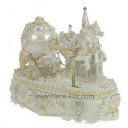 Calèche des mariés musicale en résine décorée et strass , reference CL50231171