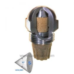 Gicleur inox Fluidics 0,35 Gph 60° SF , reference 6025008