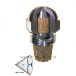 Gicleur inox Fluidics 0,40 Gph 45° HF , reference 6025016