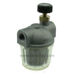 Filtre à fioul avec robinet d arrêt 3/8 de pouce , reference 6027001