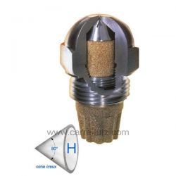 Gicleur inox Fluidics 0,40 Gph 80° HF , reference 6025018