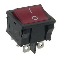 Interrupteur bipolaire à voyant rouge 19x22 , reference 220209