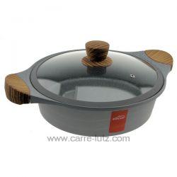 Sauteuse fonte d'aluminium 28 cm Stilo Lacor 27327 en fonte d'aluminium d'une seule pièce garantie une résistance maximale et...