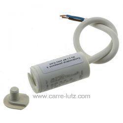 Condensateur permanent à fils 2,5 MF 450V ICAR Dimensions : Ø25x51mm cable 250mm , reference 23090103