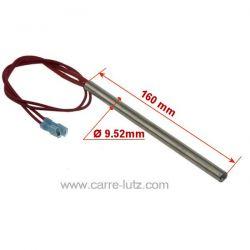 Résistance 280W 9,52 mm longueur 160 mm de poêle à pellet , reference 703953
