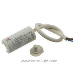 Condensateur permanent à fils 1 MF 450V ICAR Dimensions : Ø30x51mm cable 250mm , reference 23090100