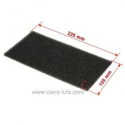 Filtre mousse HX 481010354757 220x110mm pour condenseur de sèche linge Whirlpool , reference 701629