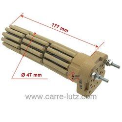 Résistance stéatite diamètre 47 mm 900W monophasé 3 barillets Longueur sous tête 177 mmde chauffe eauAtlantic De dietrich Pa...