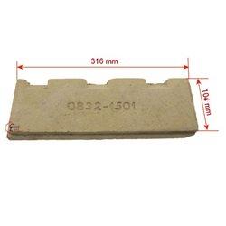 Brique gauche inferieure de cuisinière De Dietrich Ref.97351111, reference DD08321501