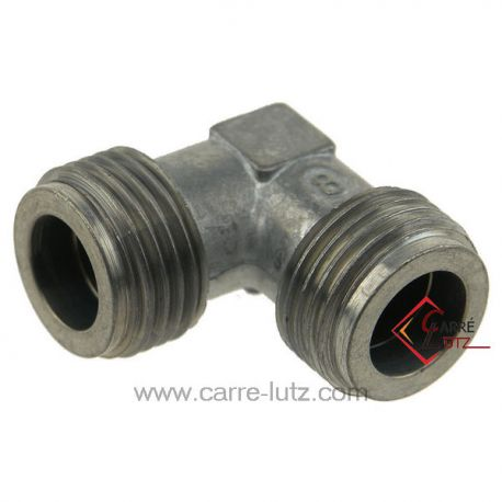 Coude pour embout gaz 1/2 , reference 737104