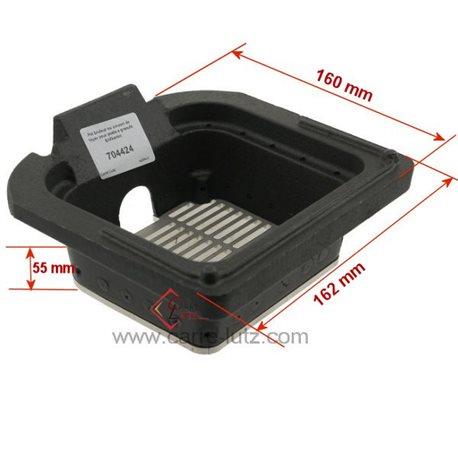 Pot bruleur ou creuset de foyer pour poele a granulé Edilkamin Ref. 234822, reference 704424