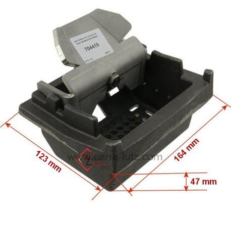Pot bruleur ou creuset de foyer pour poele a granulé Nordica Extraflame Ref. 4278205, reference 704419