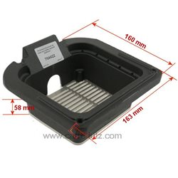 Pot bruleur ou creuset de foyer pour poele a granulé Edilkamin Ref. 235722, reference 704422