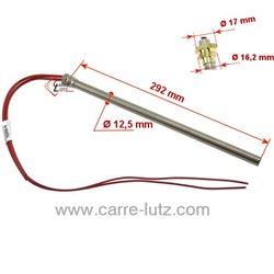Bougie ou Résistance 500W 12,5 mm longueur 290 mm de poêle à pellet