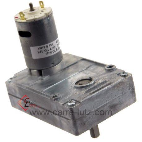 Motoréducteur de vis sans fin 3 tour/minute K917.3R-DCAxe diamètre 8,5 mm24V DC, reference 231533