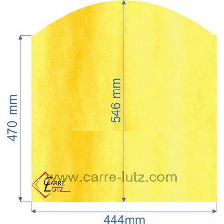 Vitre réfractaire Vitrocéramique 444x546x470 Godin Ref. 00001307850, reference 00228