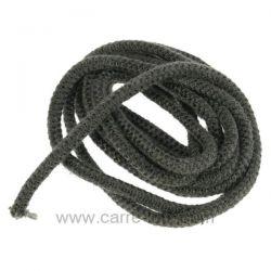 Joint fibre de verre tressée diamètre 6 mm environ 3,2 mt , reference 705001