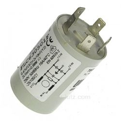 Filtre antiparasite 4 Fils 0.47 MF de lave lingeAeg Electrolux Arthur Martin Faure Zanussi ref. 4055066445 Fagor Brandt Vede...