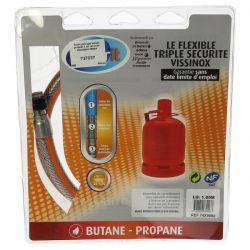 Tuyau pour gaz butane propane 1 mt raccords mécaniques sans date limite d'utilisation , reference 737037